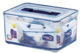 Lock & Lock Rectangular Storage Container, 8 L - Clear/Blue