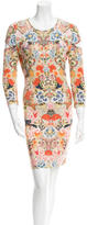 Alexander McQueen Floral Print Cutout Dress
