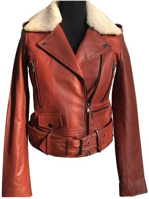 Dna Brown Leather Leather Jacket for Women