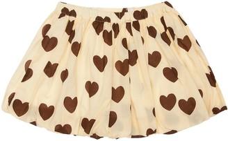 Mini Rodini Heart Print Organic Cotton Skirt