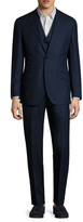 English Laundry Wool Speckled Notch Lapel Three Piece Suit