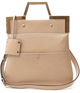 Fendi Structured Foldover Tote Bag