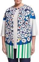 Marina Rinaldi Ciclad Flower-Print Jacket, Plus Size