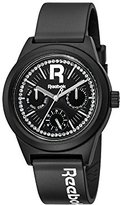 Reebok Classic R Women's Quartz Watch with Black Dial Analogue Display and Black Silicone Strap RC-CDD-L5-PBPB-BW
