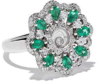 Chopard 18kt white gold Happy Diamonds ring