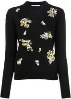 MSGM floral embellished jumper