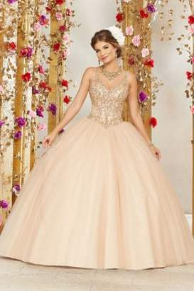 Morilee Vizcaya Rhinestone and Crystal Beading on a Tulle Ballgown