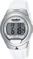 Timex Men's T5K609 Ironman Traditional 10-Lap White Resin Strap Watch