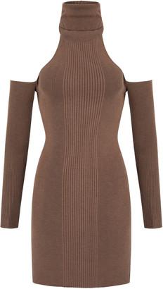 Aya Muse Topaz Open-Back Knit Mini Dress