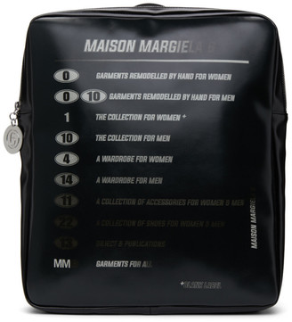MM6 MAISON MARGIELA Black Motorcross Logo Backpack