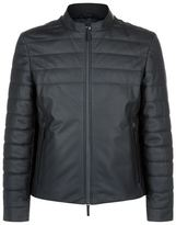 Armani Collezioni Padded Leather Motorcycle Jacket