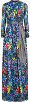 Matthew Williamson Jardin printed silk-chiffon gown