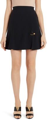 Versace Safety Pin A-Line Miniskirt