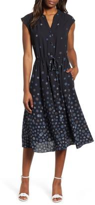 Anne Klein Nathalie Drawstring Midi Dress