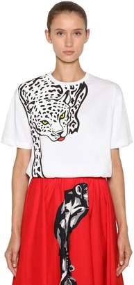 Krizia Oversized Leopard Printed Jersey T-shirt
