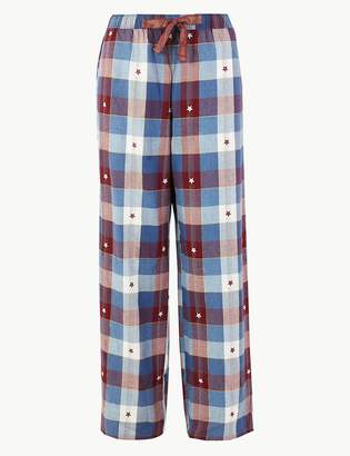 M&S CollectionMarks and Spencer Brushed Checked Pyjama Bottoms