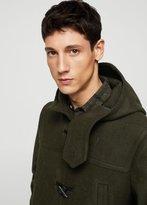 MANGO MAN Hood wool-blend duffle coat