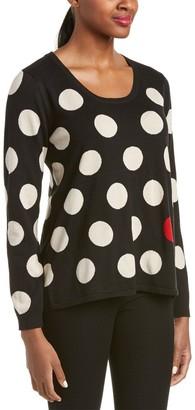 Joan Vass Women's Swing Polka Dot Sweater