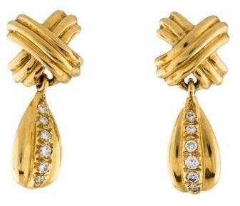 4cb09f74a Tiffany Gold Diamond Earrings - ShopStyle