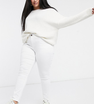 Simply Be skinny jeans in white