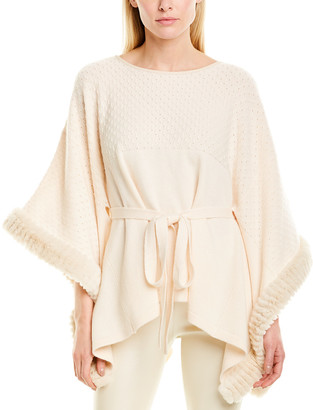 Max & Moi Wool & Cashmere-Blend Poncho