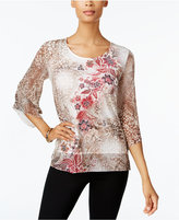 JM Collection Embellished Printed Top, Created for Macy's