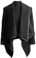 Aivtalk Women's Slim Fit Trench Coat Faux Leather Jacket Coat Outerwear XXL