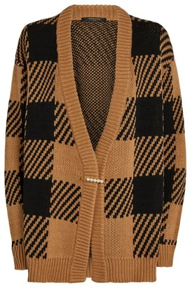Mother of Pearl Oversized Check Blake Cardigan