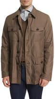 Ermenegildo Zegna Button-Down Safari Jacket, Beige