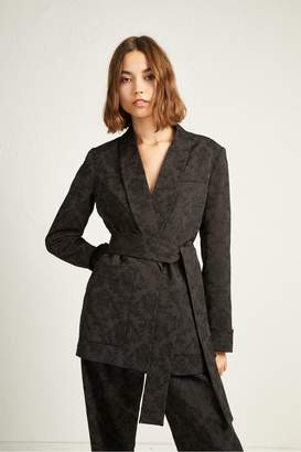 French Connection Jane Suiting Belted Shawl Collar Jacket