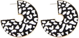 Mignonne Gavigan Leopard Hoop Earrings