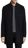 The Kooples The Soft Military Wool Top Coat