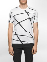 Calvin Klein Platinum Slim Fit Offset Linear T-Shirt