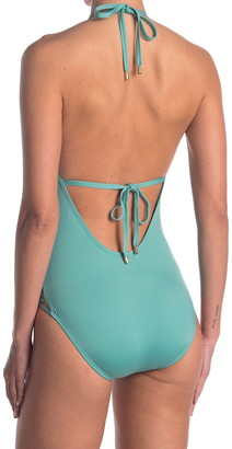 Laundry by Shelli Segal Crisscross Plunging One Piece Swimsuit