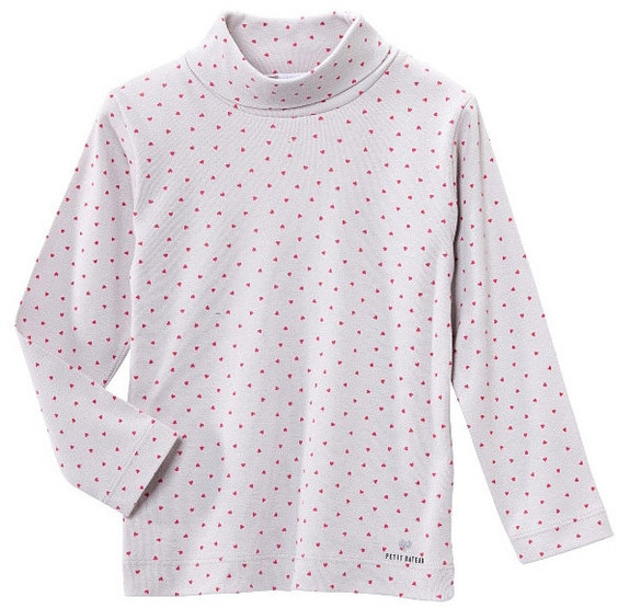 Petit Bateau Tiny Hearts Turtleneck Shirt
