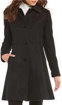 Preston & York Color-Block Fit-And-Flare Point Collar Coat