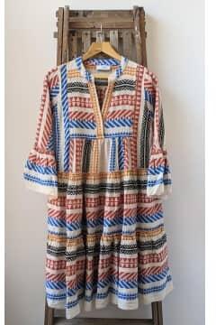 Devotion Twins - Ella Midi Embroide Dress
