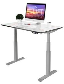 "Seville Classics AIRLIFT Pro S3 54"" Dry-Erase Top Adjustable Standing Desk, 54 x 30"""