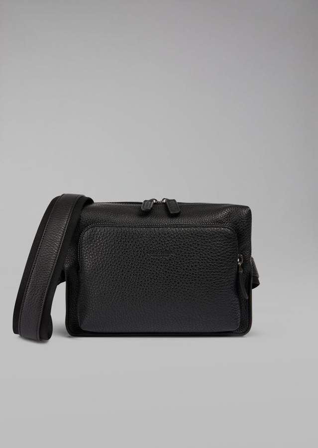 Giorgio Armani Grainy Calfskin Leather Belt Bag
