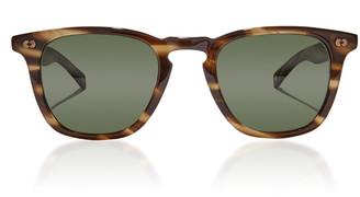 Garrett Leight Brooks X 47 D-Frame Tortoiseshell Acetate Sunglasses