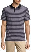Claiborne Short Sleeve Stripe Cotton Polo Shirt
