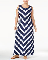 Style&Co. Style & Co Plus Size Chevon Maxi Dress, Created for Macy's