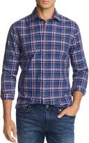 The Men's Store At Bloomingdale's The Men's Store at Bloomingdale's Plaid Broadcloth Slim Fit Shirt - 100% Exclusive