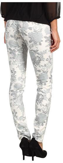 Mavi Jeans Serena Low-Rise Super Skinny in White Floral