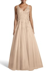 Xscape Evenings Embroidered Chiffon Evening Dress