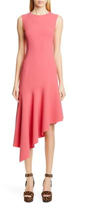 Michael Kors Collection Asymmetrical Hem Crepe Dress