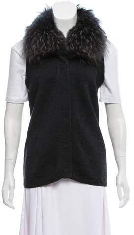 Diane von Furstenberg Lupan Fur-Trimmed Vest