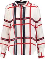 Preen by Thornton Bregazzi Lexi checked crepe de chine blouse