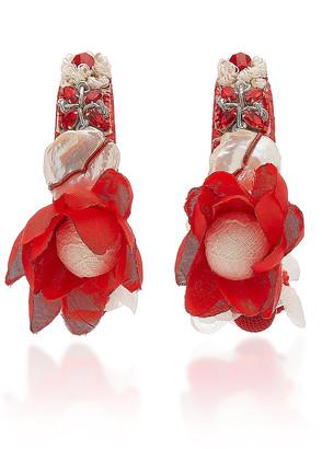 Ranjana Khan Josefina Multi-Stone Hoop Earrings