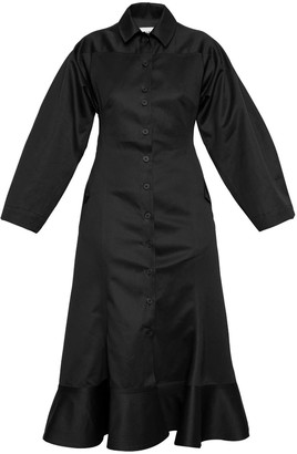 Talented Wide Sleeve Dress Black